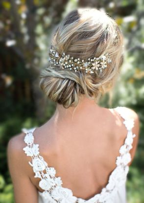 Boho-Gold-Halo-Flower-Hair-Crown-Wedding-Updos