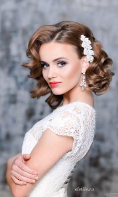 Elstile-short-vintage-curly-wedding-hairstyles